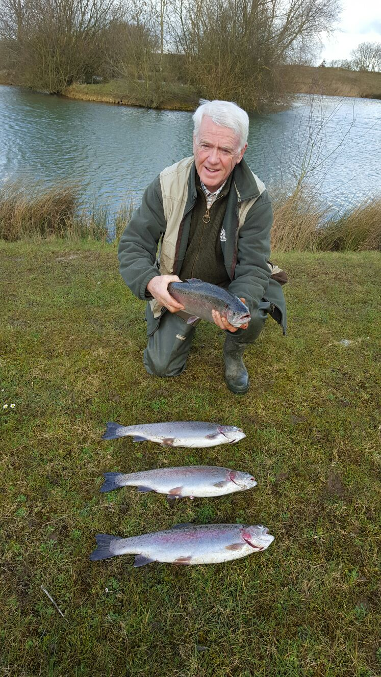 Rainbow trout at Lakeside Fishing Leicestershire
