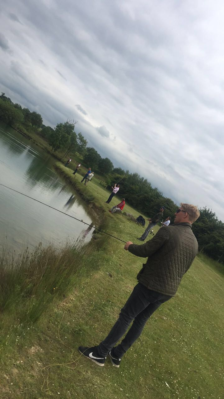 Lewis Moody Fishing 2 - Celeb charity Day